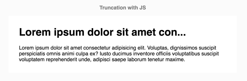 You can even truncate your titles with JavaScript if you really have to