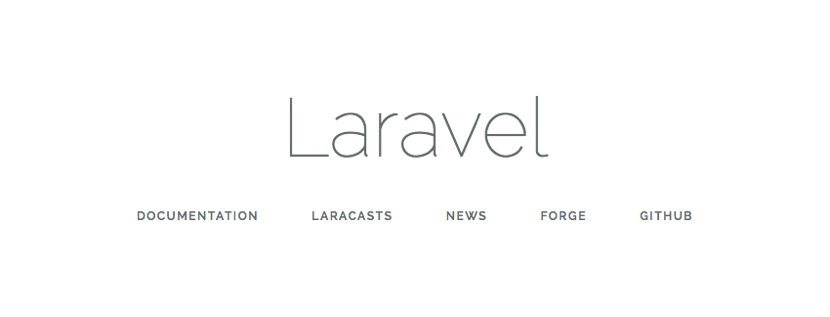 Fig 3: The Laravel 5.4 splash screen that is shown once successfully installed